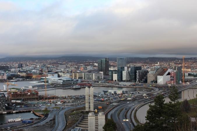 Ausblick auf die Gebäude von Bjørvika und die Osloer Oper, Copyright: insidenorway
