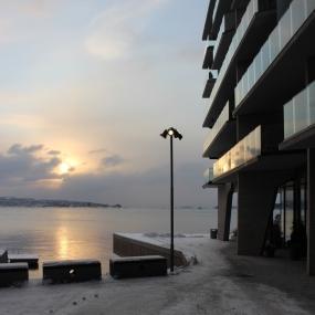 Blick von Tjuvholmen auf den Oslofjord, Copyright: insidenorway