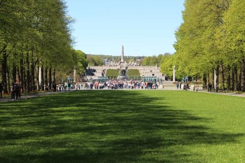 Frühling im Vigeland-Park, Copyright: insidenorway