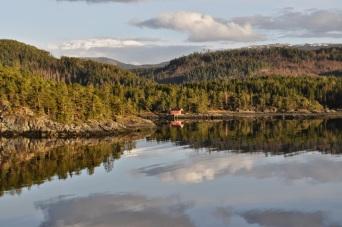 Åsenfjord, ein Ausläufer des Trondheimfjords in der Provinz Nord-Trøndelag