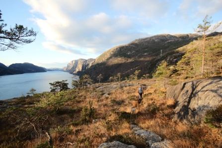 Lysefjord, östlich von Stavanger in der Provinz Rogaland