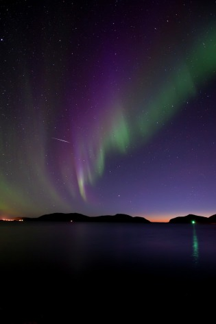 Nordlichter über Kattfjordeidet, Kvaløya, Copyright: Gaute Bruvik - Visitnorway.com