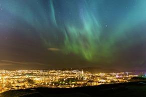 Nordlichter über Trondheim, Copyright: Sven-Erik Knoff - Visitnorway.com