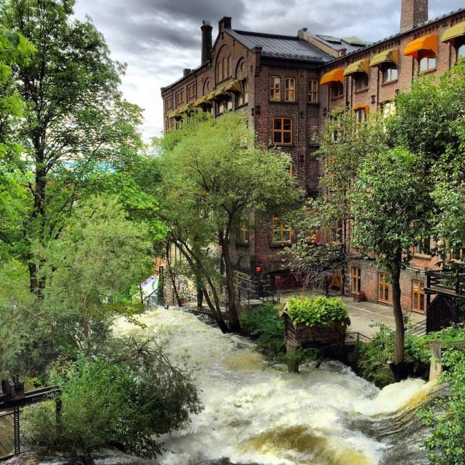Blick von Hønse-Lovisas hus auf die alte Industrielandschaft, Copyright: insidenorway
