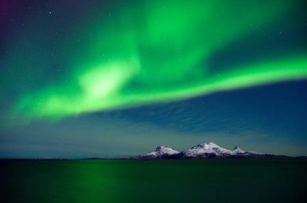 Nordlichter über Landegode, Copyright: Kent Even Grundstad / www.nordnorge.com / Bodø