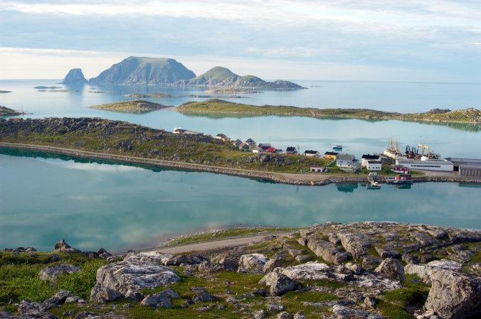 Fishing village close to North Cape