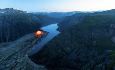 Camping auf der Trolltunga, © Sverre Hjørnevik / www.fjordnorway.com