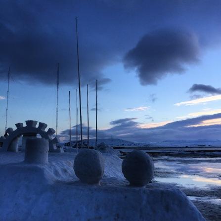 Blaue Stunde in Vardø
