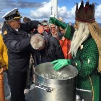 Neptun ist da, Polarkreistaufe auf der MS Finnmarken