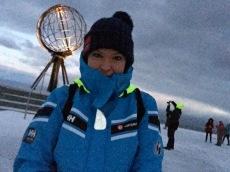 Der Wind pfeift am winterlichen Nordkapp