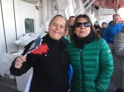 Winkewettbewerb auf der MS Finnmarken