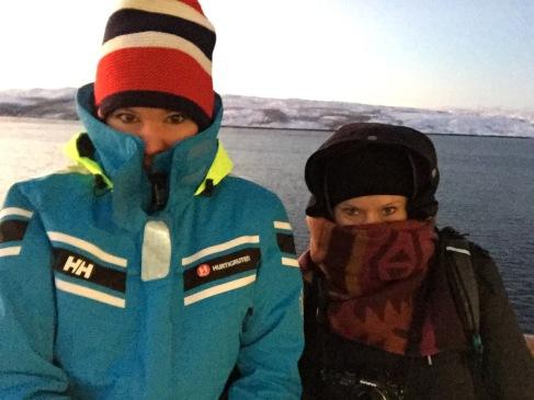 Lausig kalt in Kirkenes, wir zählen minus dreißig Grad