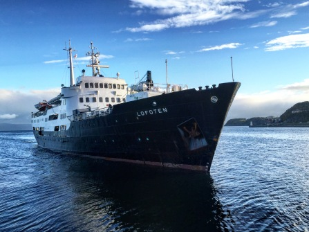 Die MS Lofoten legt in Trondheim an, Copyright: insidenorway
