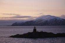 Sonnenuntergang vor Svolvær, Copyright: insidenorway